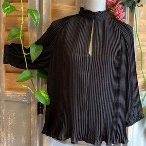 Zara pleated raglan 3/4 sleeve blouse🌟